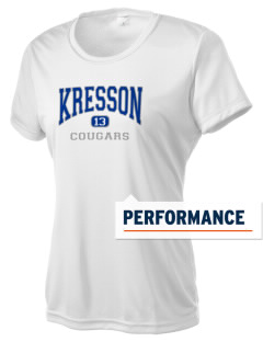 Kresson Elementary School Cougars Women's Competitor Performance T-Shirt
