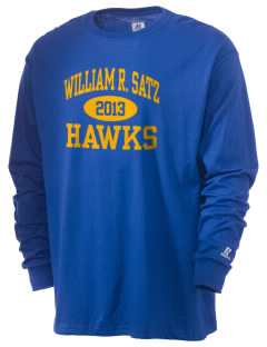 William R. Satz School Hawks  Russell Men's Long Sleeve T-Shirt