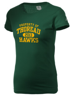 Thoreau High School Hawks  Russell Women's Campus T-Shirt
