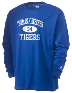 Thomas K Beecher Elementary School Tigers  Russell Men's Long Sleeve T-Shirt