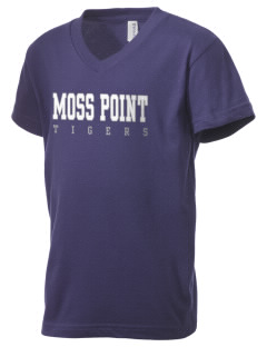 Moss Point High School Tigers Kid's V-Neck Jersey T-Shirt