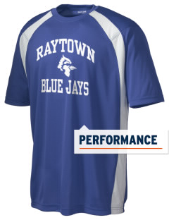 Raytown Middle School Blue Jays Men's Dry Zone Colorblock T-Shirt