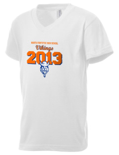 North Pontotoc High School Vikings Kid's V-Neck Jersey T-Shirt