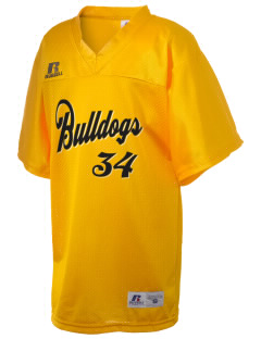 Central Elementary School Bulldogs Russell Kid's Replica Football Jersey