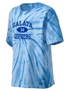 Galata Elementary School Gophers Kid's Tie-Dye T-Shirt