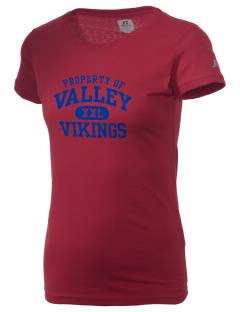 Valley High School Vikings  Russell Women's Campus T-Shirt