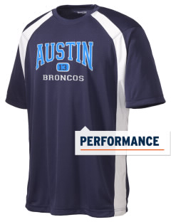 Austin High School Broncos Men's Dry Zone Colorblock T-Shirt