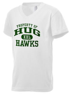 Hug High School Hawks Kid's V-Neck Jersey T-Shirt