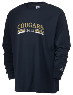 Alexander Central High School Cougars  Russell Men's Long Sleeve T-Shirt