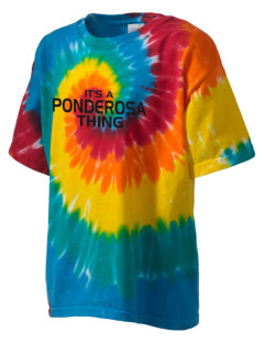 Ponderosa Elementary School Panthers Kid's Tie-Dye T-Shirt