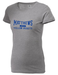Matthews Elementary School Yellow Jackets  Russell Women's Campus T-Shirt