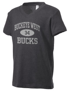 Buckeye West Elementary School Bucks Kid's V-Neck Jersey T-Shirt