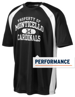 Monticello Middle School Cardinals Men's Dry Zone Colorblock T-Shirt