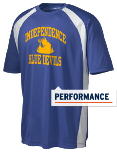 Independence Middle School Blue Devils Men's Dry Zone Colorblock T-Shirt