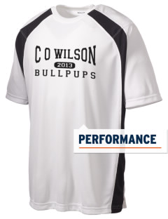C O Wilson Middle School Bullpups Men's Dry Zone Colorblock T-Shirt