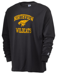 Northview High School Wildcats  Russell Men's Long Sleeve T-Shirt