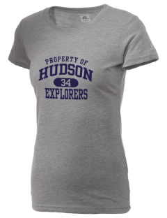 Hudson High School Explorers  Russell Women's Campus T-Shirt