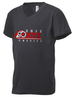 Chi Upsilon Sigma Kid's V-Neck Jersey T-Shirt