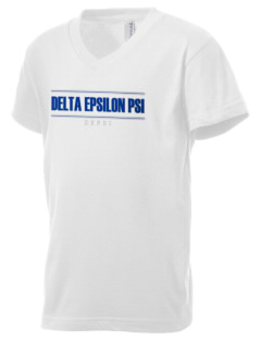 Delta Epsilon Psi Kid's V-Neck Jersey T-Shirt