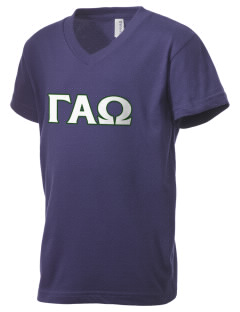 Gamma Alpha Omega Kid's V-Neck Jersey T-Shirt
