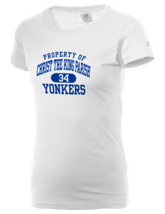 Christ The King Parish Yonkers  Russell Women's Campus T-Shirt