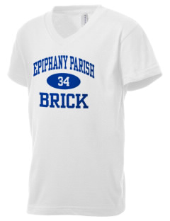 Epiphany Parish Brick Kid's V-Neck Jersey T-Shirt