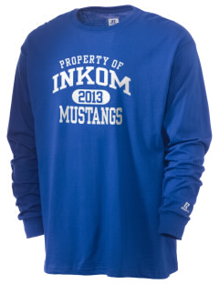 Inkom Elementary School Mustangs  Russell Men's Long Sleeve T-Shirt