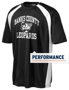 Banks County Middle School Leopards Men's Dry Zone Colorblock T-Shirt
