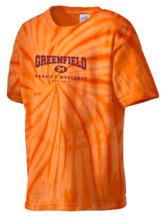 Greenfield Elementary School Mustangs Kid's Tie-Dye T-Shirt