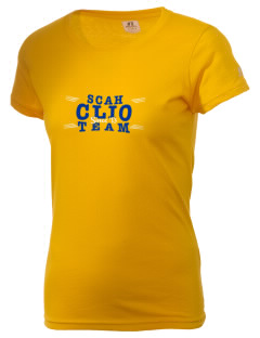 SS Charles and Helena Parish, Clio Clio  Russell Women's Campus T-Shirt