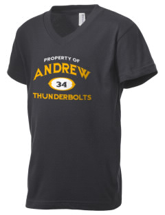 Andrew High School Thunderbolts Kid's V-Neck Jersey T-Shirt