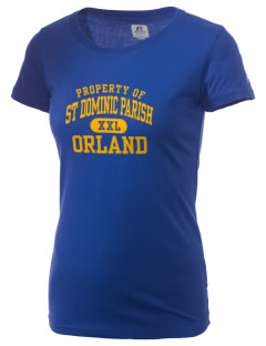 St Dominic Parish Orland  Russell Women's Campus T-Shirt