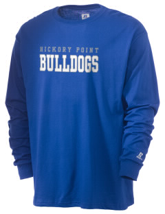 Hickory Point Elementary School Bulldogs  Russell Men's Long Sleeve T-Shirt