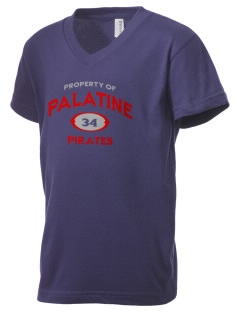 Palatine High School Pirates Kid's V-Neck Jersey T-Shirt