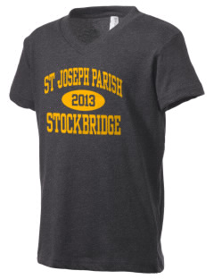 St Joseph Parish Stockbridge Kid's V-Neck Jersey T-Shirt