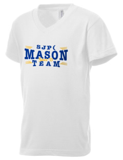St Joseph Parish (Hispanic) Mason Kid's V-Neck Jersey T-Shirt
