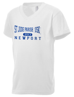 St Jude Parish (Usk) Newport Kid's V-Neck Jersey T-Shirt