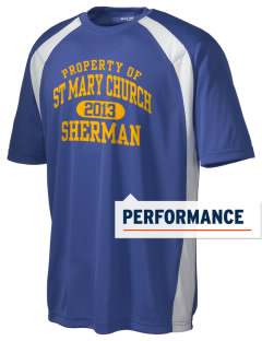 St Mary Church Sherman Men's Dry Zone Colorblock T-Shirt