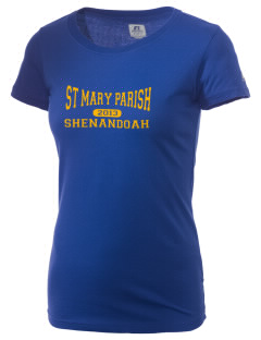 St Mary Parish Shenandoah  Russell Women's Campus T-Shirt