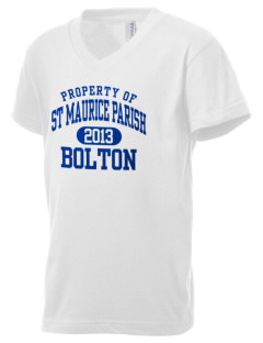 St Maurice Parish Bolton Kid's V-Neck Jersey T-Shirt