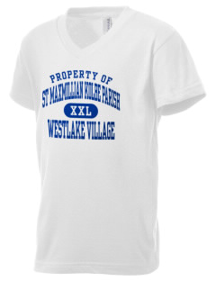 St Maxmillian Kolbe Parish Westlake Village Kid's V-Neck Jersey T-Shirt