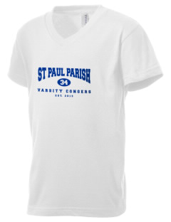 St Paul Parish Congers Kid's V-Neck Jersey T-Shirt