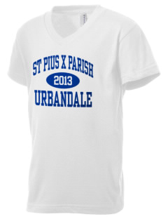 St Pius X Parish Urbandale Kid's V-Neck Jersey T-Shirt