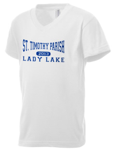 St. Timothy Parish School Lady Lake Kid's V-Neck Jersey T-Shirt