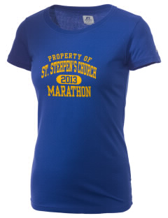 St. Stehpen's Church Marathon  Russell Women's Campus T-Shirt