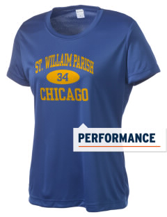 St. Willaim Parish Chicago Women's Competitor Performance T-Shirt