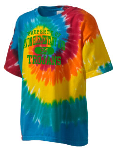 Avon Elementary And Middle School Trojans Kid's Tie-Dye T-Shirt