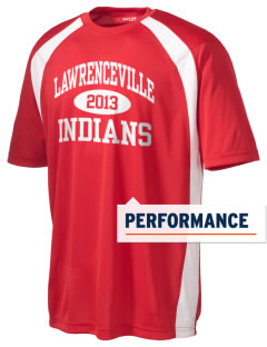 Lawrenceville High School Indians Men's Dry Zone Colorblock T-Shirt