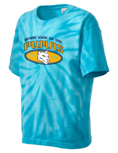 Northridge Academy High School Pumas Kid's Tie-Dye T-Shirt