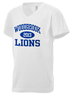 Woodbrook Elementary School Lions Kid's V-Neck Jersey T-Shirt